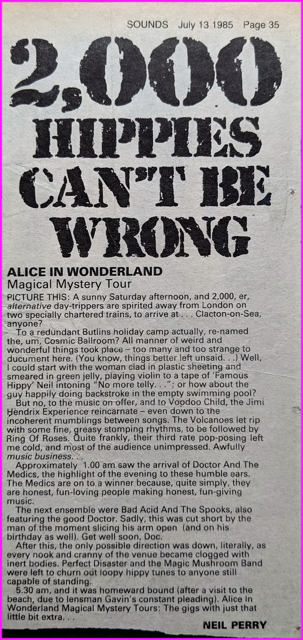 Alice In Wonderland Mystery Trip 3 Review (Sounds Magazine)